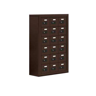 19000 Series 24 in. W x 36.5 in. H x 9.25 in. D 18 A Doors S-Mounted Resettable Locks Cell Phone Locker in Bronze
