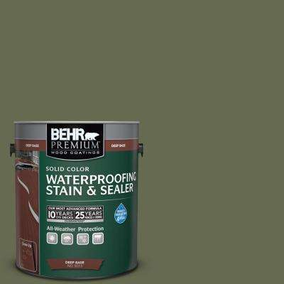 1 gal. #SC-138 Sagebrush Green Solid Color Waterproofing Exterior Wood Stain and Sealer
