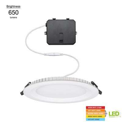 6 in. Integrated LED Ultra Slim Low Profile Edge Lit Ceiling Light Remodel New Construction Downlight Recessed Kit