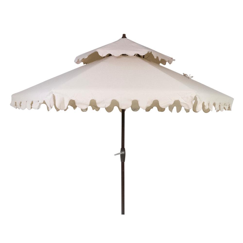 Hampton Bay 9 ft. Aluminum Market Patio Umbrella in Beige
