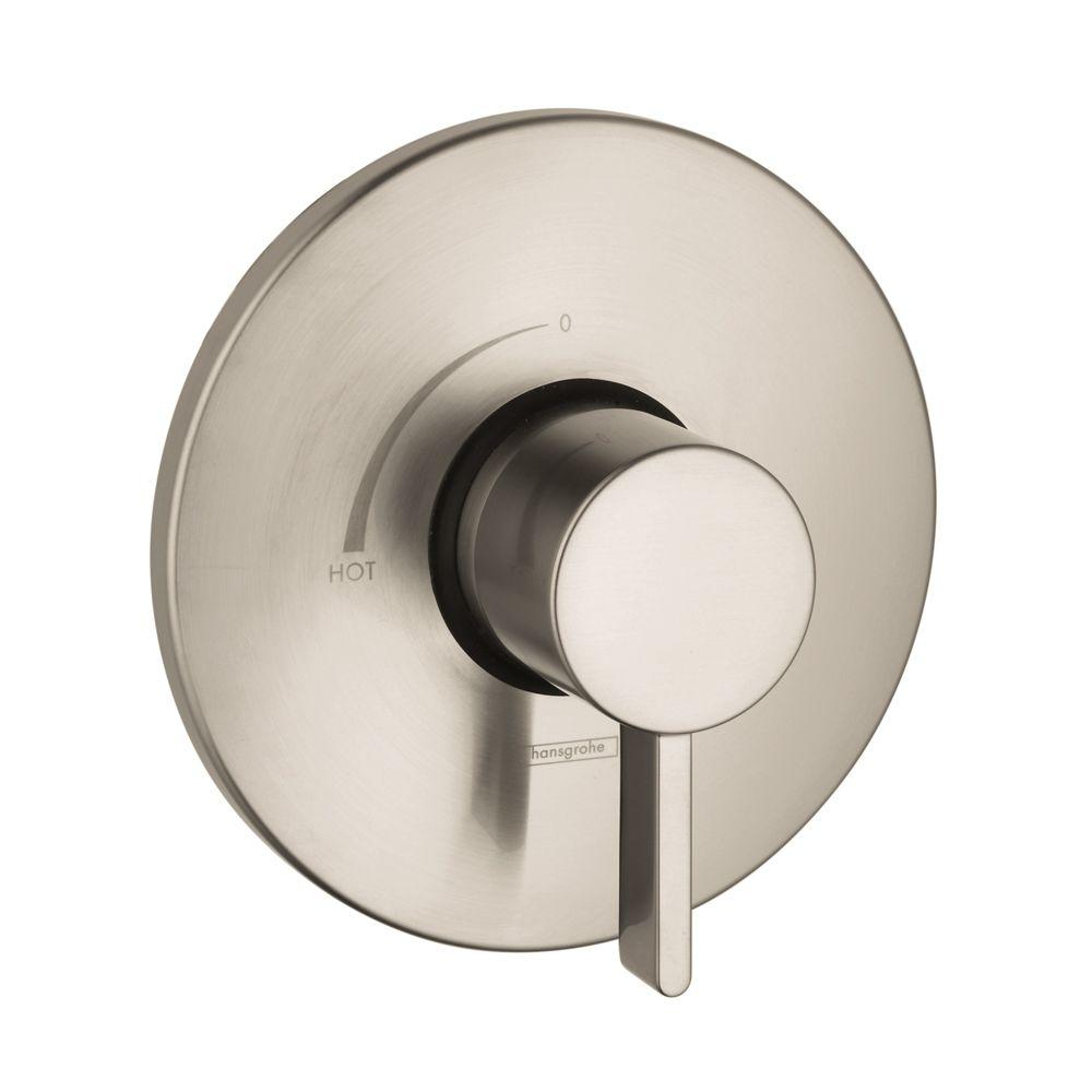 Hansgrohe Hansgrohe Metris S 1-Handle Pressure Balance Valve Trim Kit in Brushed Nickel (Valve Not Included)
