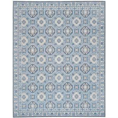 Artisan Silver/Blue 9 ft. x 12 ft. Area Rug