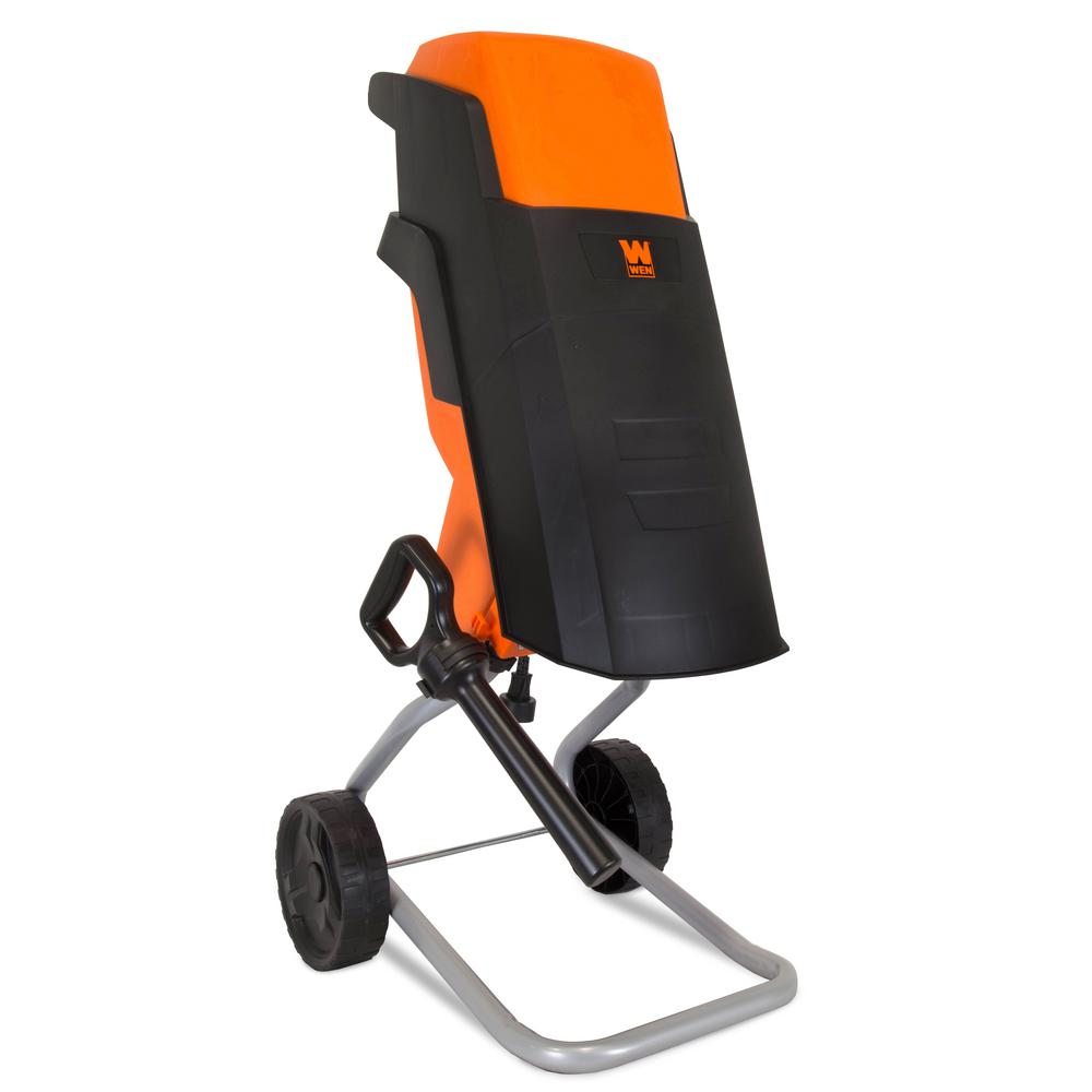 Wen 15 Amp Rolling Electric Wood Chipper And Shredder