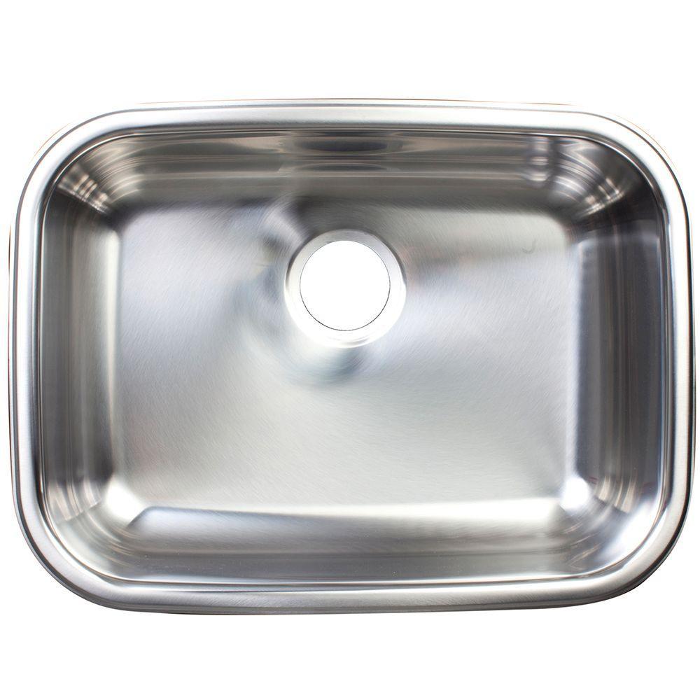 Franke Undermount Stainless Steel 24x18x8 0-Hole Single Bowl ...