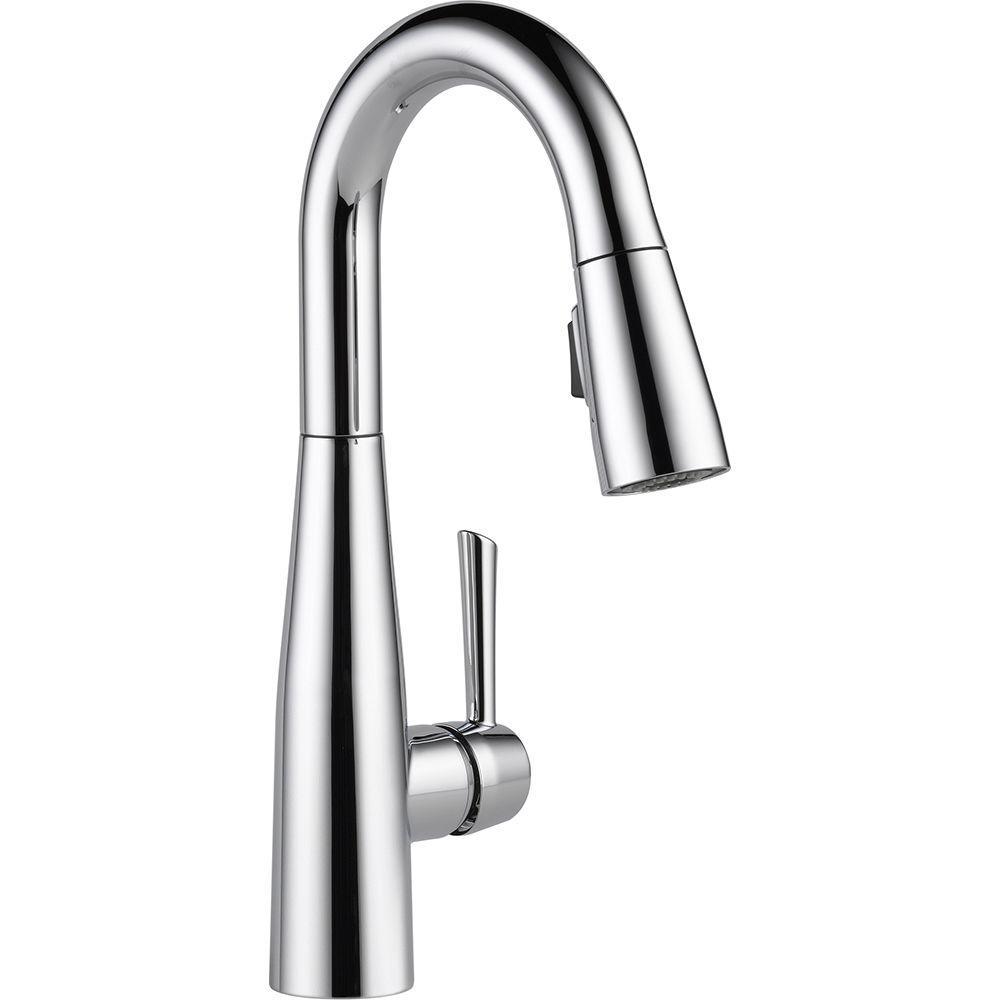Delta Essa Single Handle Bar Faucet With Magnatite Docking In Chrome