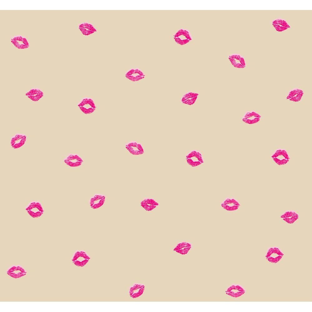 York Wallcoverings Smooches Wallpaper