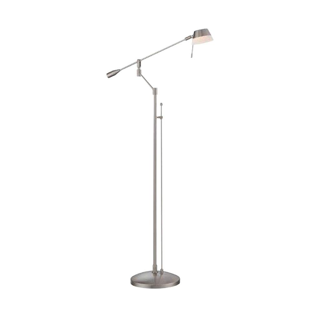 Illumine Designer Collection 56 in. Steel Halogen Floor Lamp