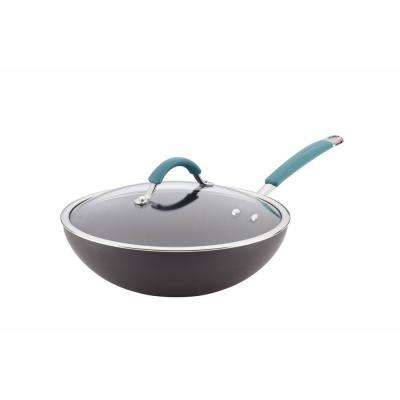 Cucina Hard-Anodized Stir-Fry Pan with Lid
