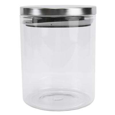 22 oz. Borosilicate Glass Canister with Stainless Steel Lid