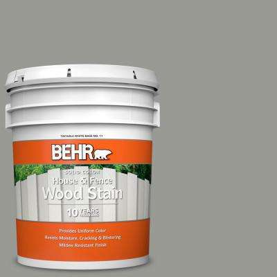 5 gal. #SC-143 Harbor Gray Solid Color House and Fence Exterior Wood Stain