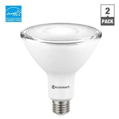 120W Equivalent Daylight PAR38 Dimmable LED Flood Light Bulb (2-Pack)