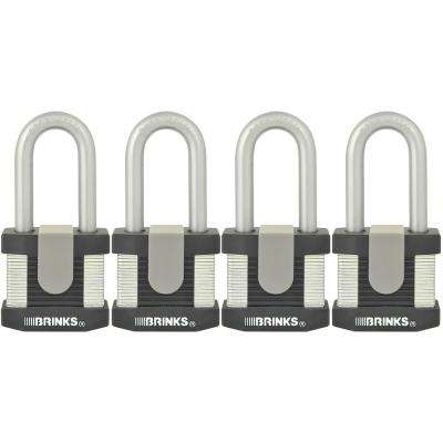 50 mm Laminated Steel Commercial Padlock (4 Pack)