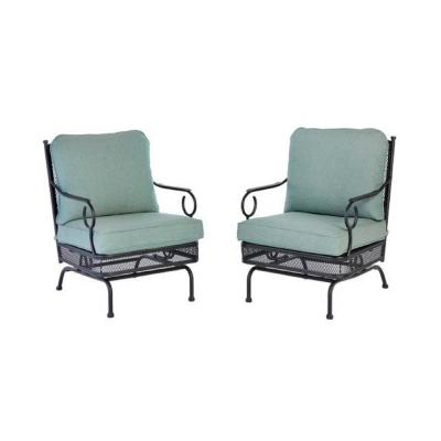 Amelia Springs Rocking Outdoor Lounge Chair with Spa Cushions (2-Pack)