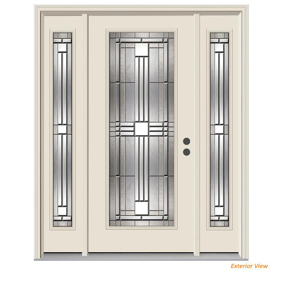 Jeld Wen 62 In X 80 In Full Lite Cordova Primed Steel Prehung Left