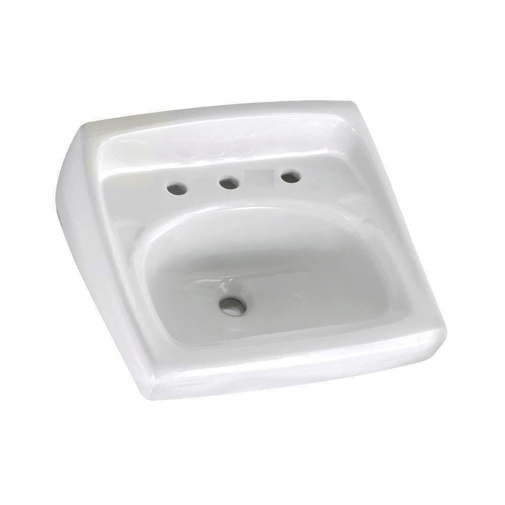 American Standard Lucerne Wall Mounted Bathroom Sink For Exposed Bracket  Support By Others With Faucet