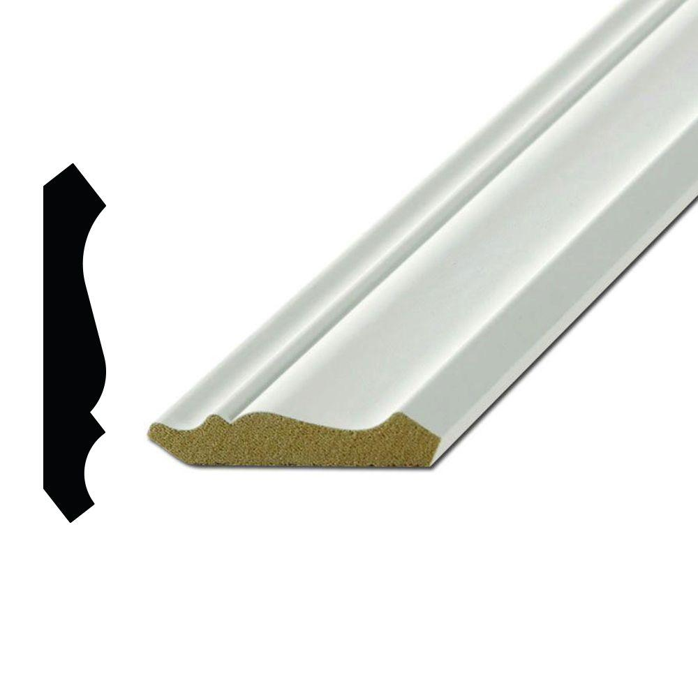 Alexandria Moulding WM 53 7/16 in. x 2-3/4 in. Primed MDF Crown Moulding