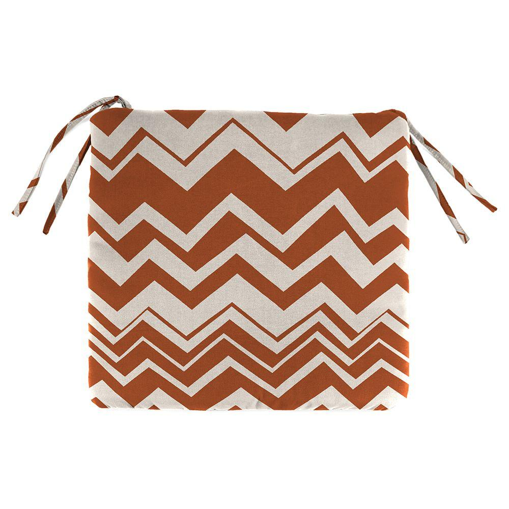Home Decorators Collection Rizzy Rust Outdoor Seat Cushion