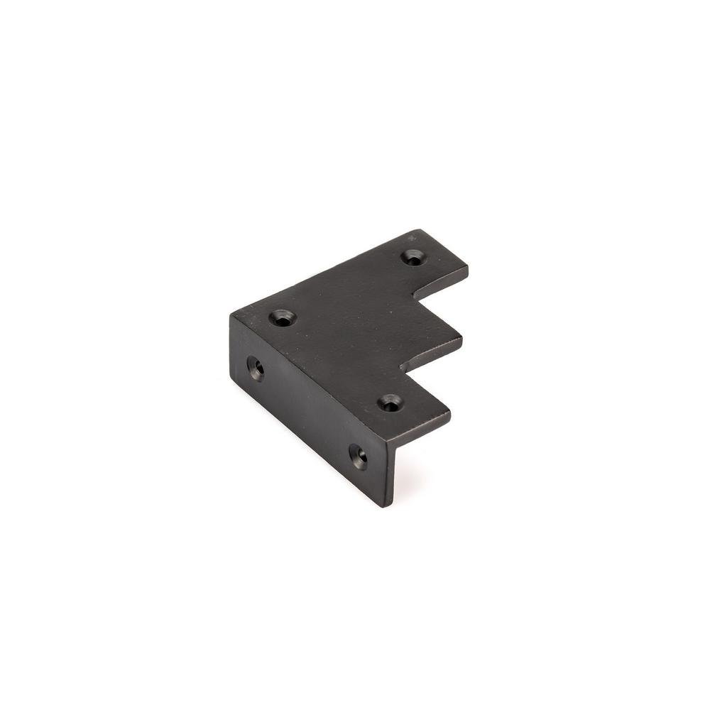 Richelieu Hardware 2 15 16 In Matte Black Decorative Rustic Corner Bracket