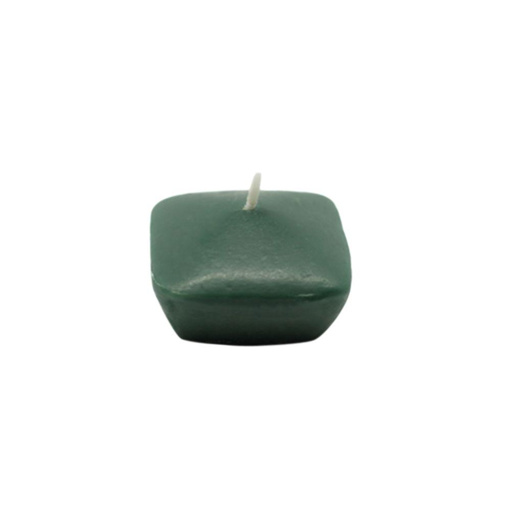 1.75 in. Hunter Green Square Floating Candles (12-Box)