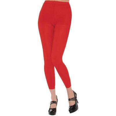 Footless Christmas Red Tights (2-Pack)
