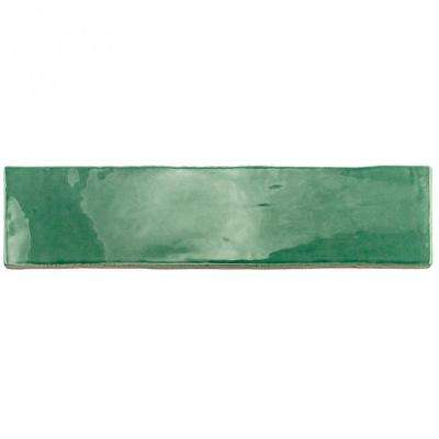 Catalina Green Lake 3 in. x 12 in. x 8 mm Polished Ceramic Wall Subway Tile (1 sq. ft.)
