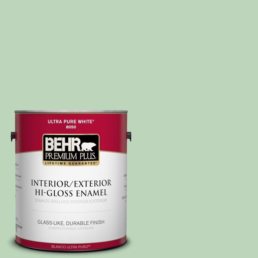 1-gal. #M400-3 Bok Choy Hi-Gloss Enamel Interior/Exterior Paint