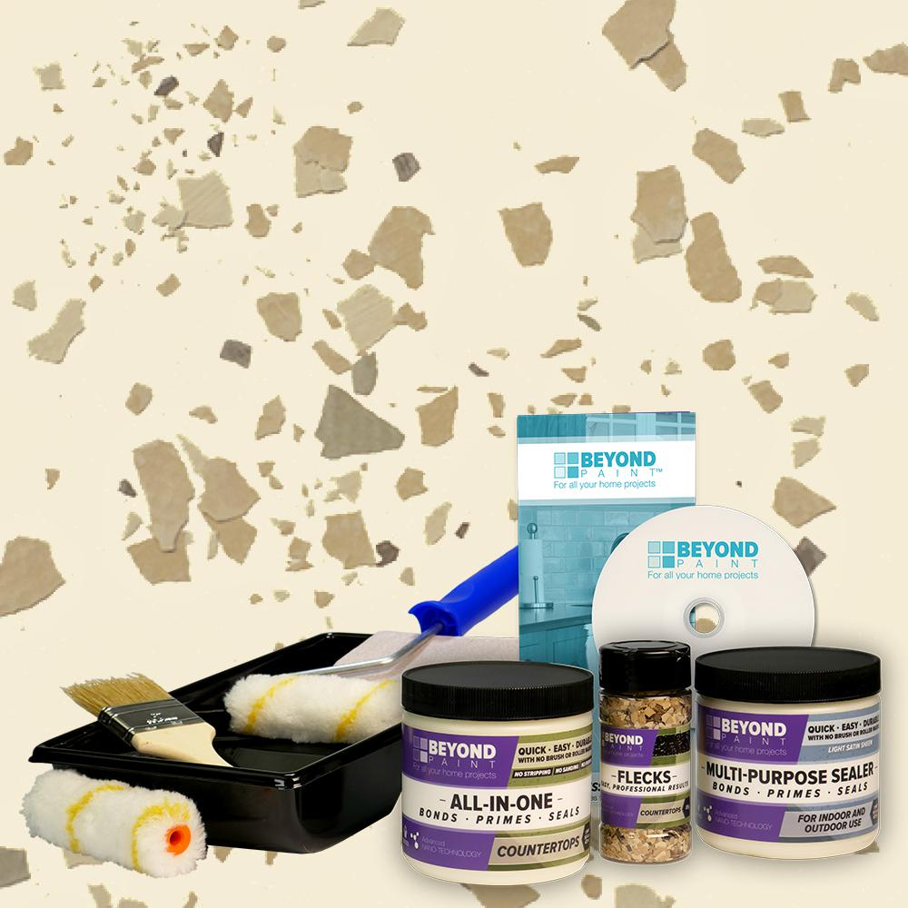 1 pt. Bone Multi-Surface Countertop Makeover Refinishing Kit