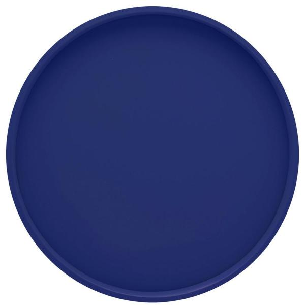 Kraftware Bartenders Choice Fun Colors 14 in. Round Serving Tray in Royal Blue