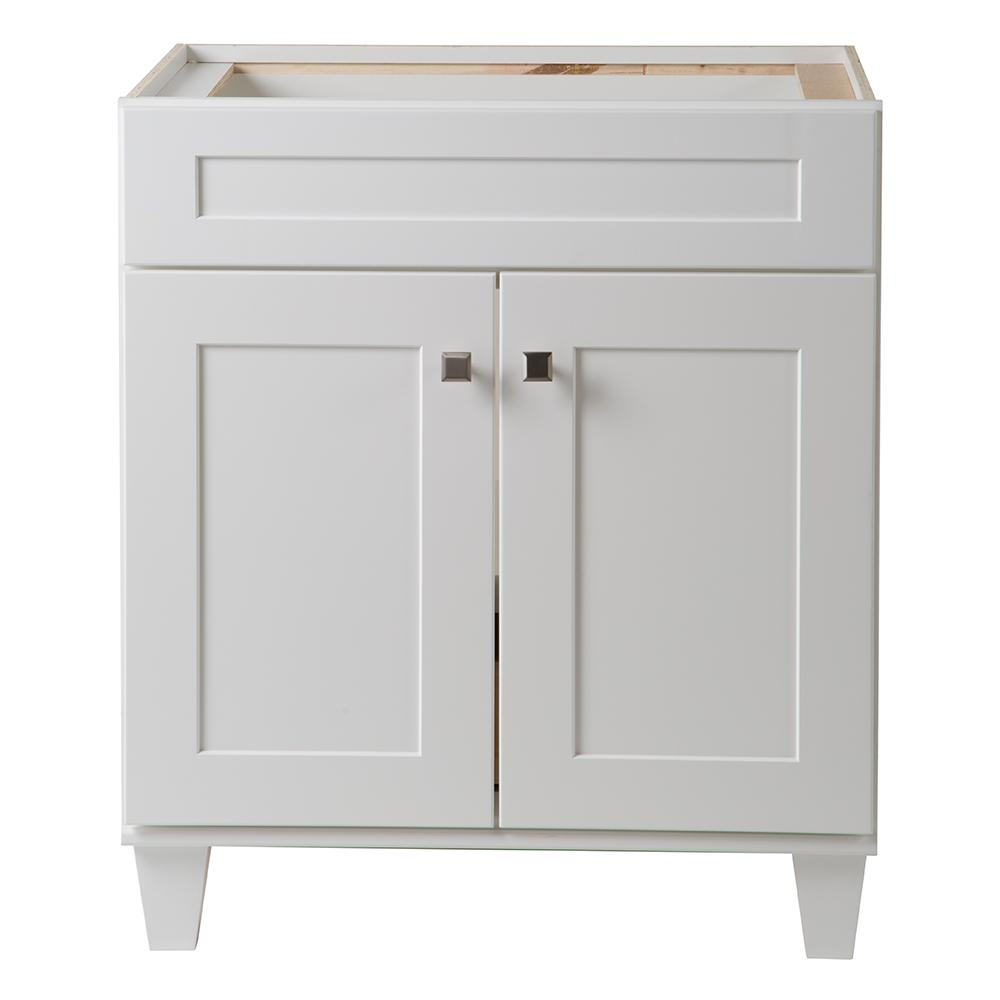 Home Decorators Collection Creeley 30 in. W x 34 in. H x 22 in. D Bath Vanity Cabinet in Classic White