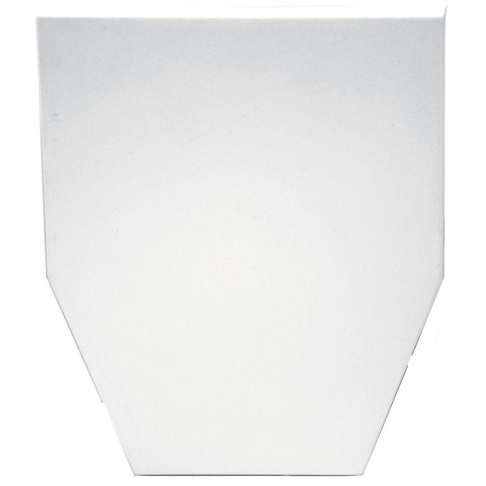 Builders Edge 9 in. Classic Dentil Window Header Keystone in 117 Bright White