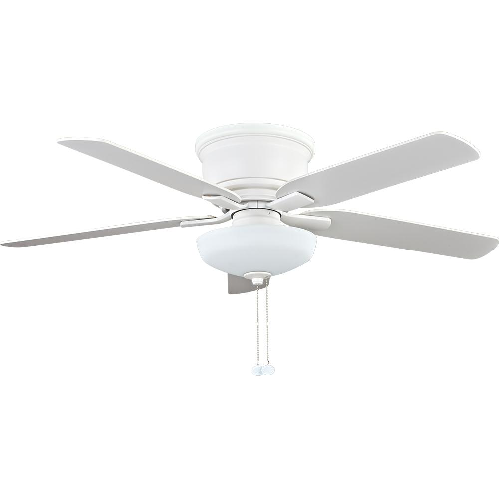 Hampton bay holly springs low profile 52 in led indoor matte hampton bay holly springs low profile 52 in led indoor matte white ceiling fan with light kit 57288 the home depot aloadofball Gallery