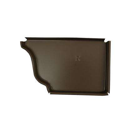5 in. Terra Bronze Aluminum Right End Cap