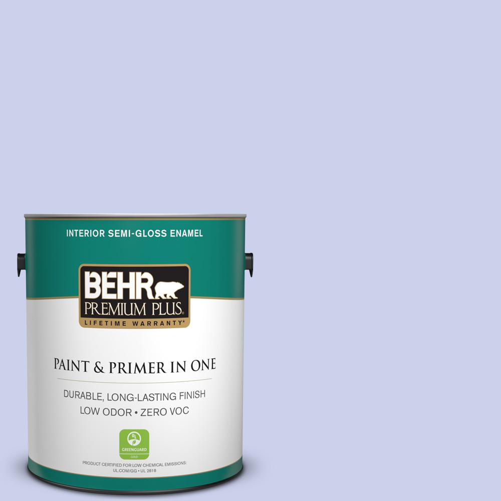1 gal. #600A-2 Lazy Sunday Semi-Gloss Enamel Zero VOC Interior Paint