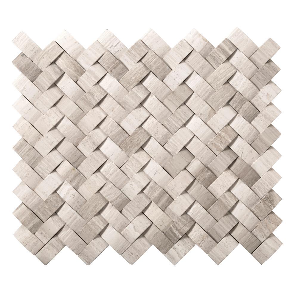 Basketweave mosaic tile tile the home depot metro dailygadgetfo Images