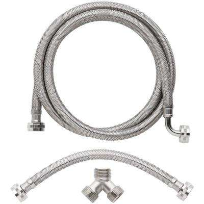 3/4 in. x 6 ft. Braided Stainless Steam Dryer Installation Kit