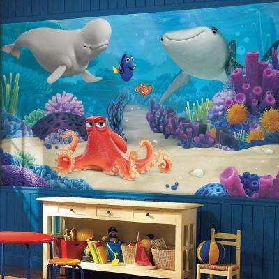 72 in. x 126 in. Finding Dory XL Chair Rail 7-Panel Prepasted Mural