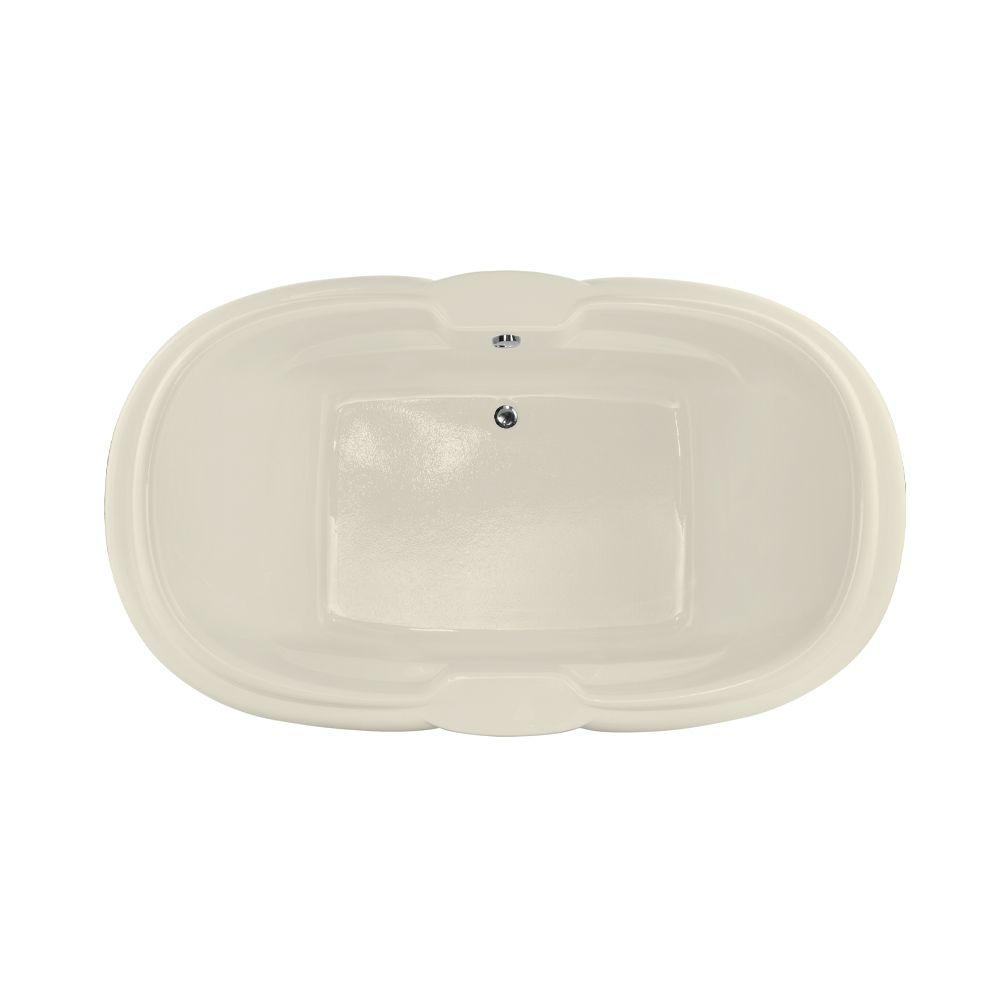 Hydro Systems Hampton 6 ft. Reversible Drain Air Bath Tub in Biscuit ...