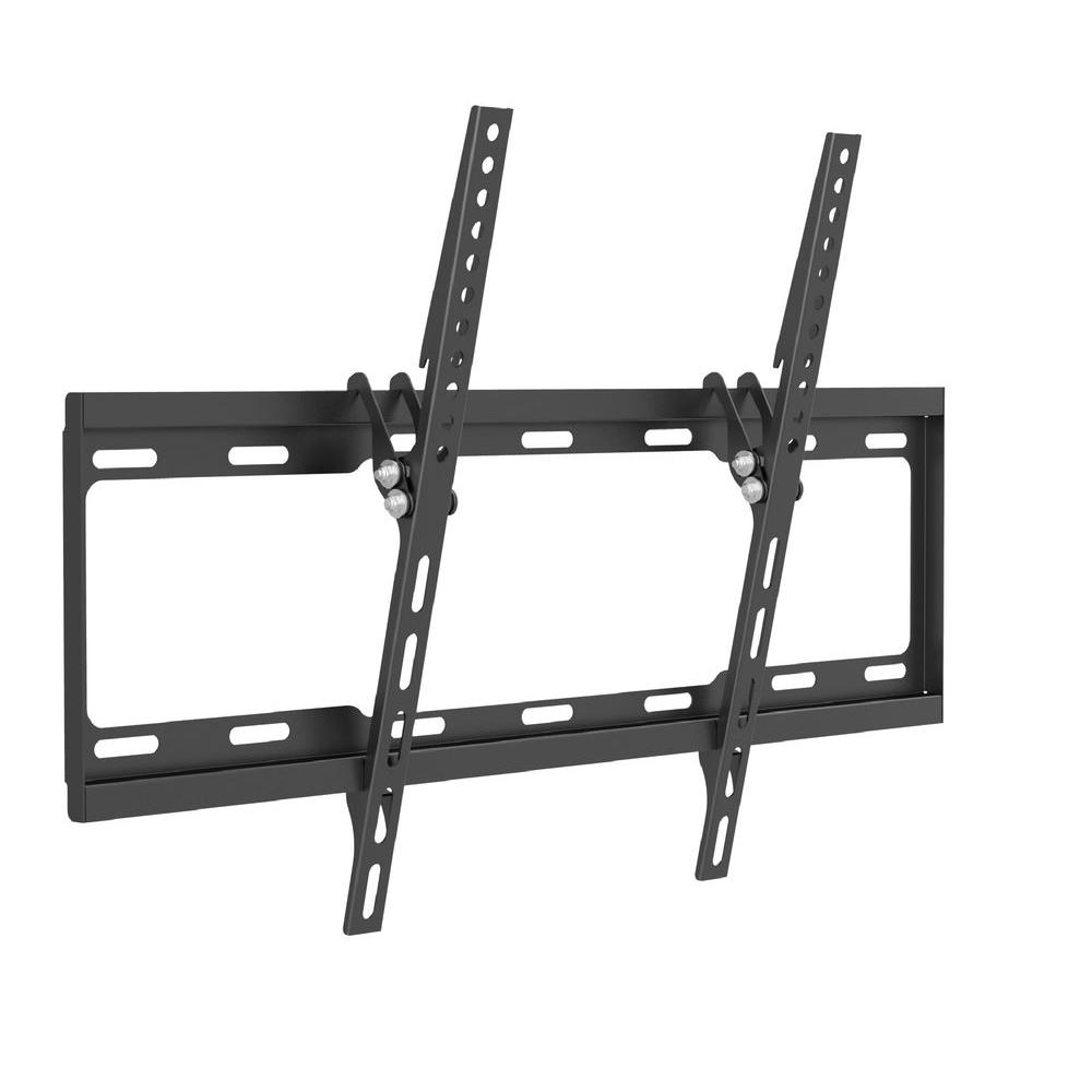 proHT proHT Low-Profile Tilting TV Wall Mount for 37 in. - 70 in. Flat Panel TVs with 8 Degree Tilt, 77 lb. Load Capacity, Black