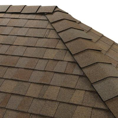 Timbertex Amber Wheat Double-Layer Hip and Ridge Cap Roofing Shingles (20 lin. ft. per Bundle) (30-pieces)