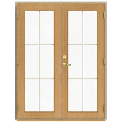 Wood french patio door patio doors exterior doors the home depot w 2500 desert sand clad wood left planetlyrics Image collections