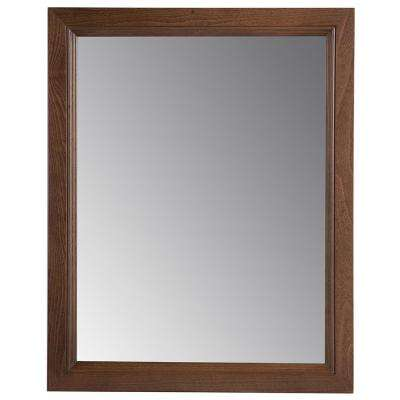 Valencia 22 in. x 27 in. Single Framed Wall Mirror in Butterscotch