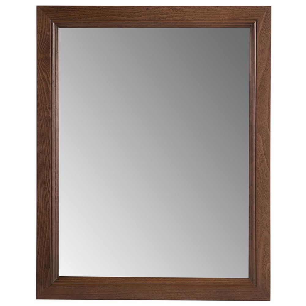 Valencia 22 in. W x 27 in. H Single Framed Wall Mirror in Butterscotch
