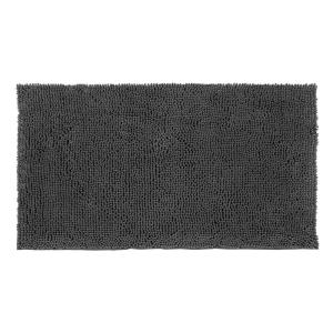 Resort Collection Plush Shag Chenille Gray 21 inch x 34 inch Bath Rug by Resort Collection