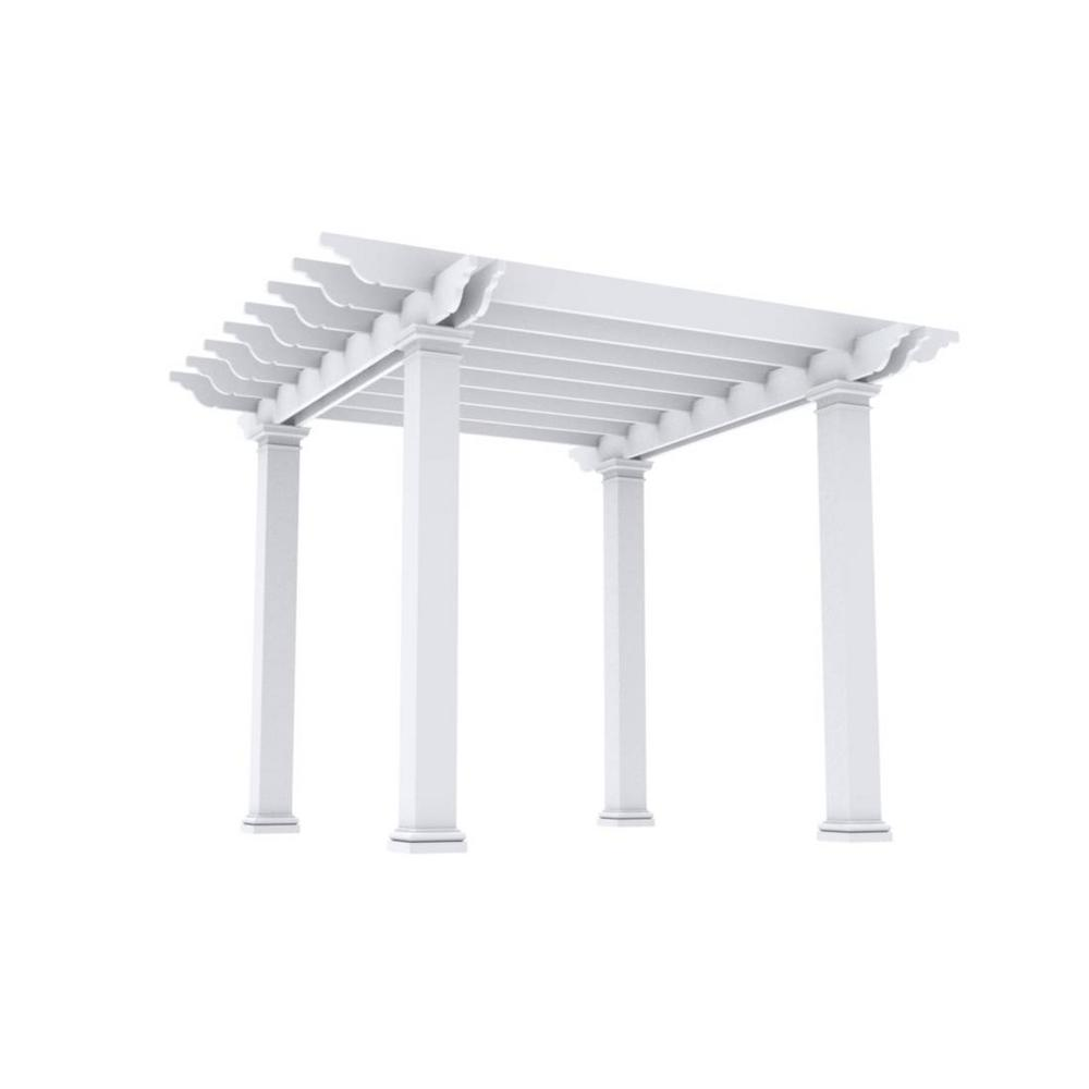 Outdoor Distinctions Harmony 12 ft. x 12 ft. x 8 ft. Free-Standing Fiberglass Pergola Kit