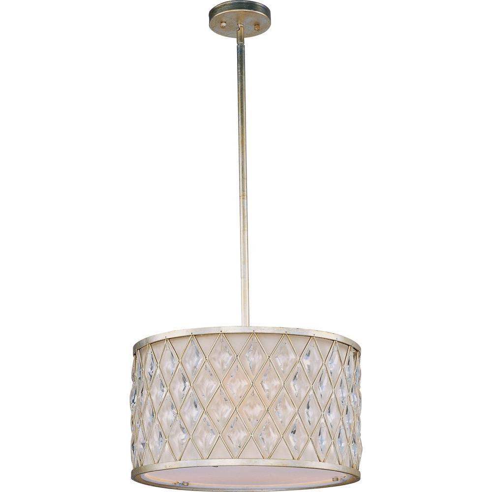 Maxim lighting diamond 3 light golden silver pendant