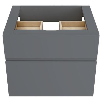 Studio S 24 in. Double Drawer Bath Vanity Cabinet Only in Dark Grey