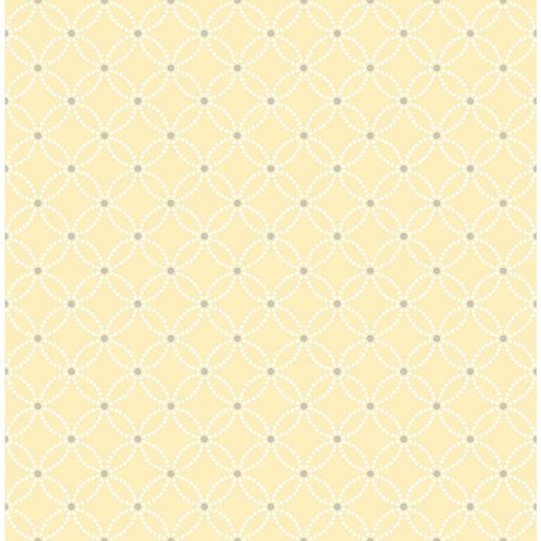 A-Street Kinetic Yellow Geometric Floral Wallpaper Sample 2625-21842SAM