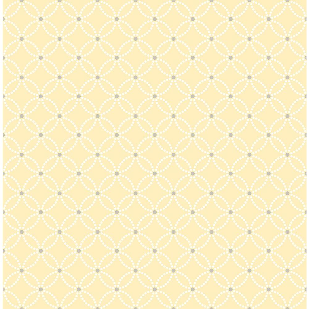 Kinetic Yellow Geometric Floral Wallpaper Sample