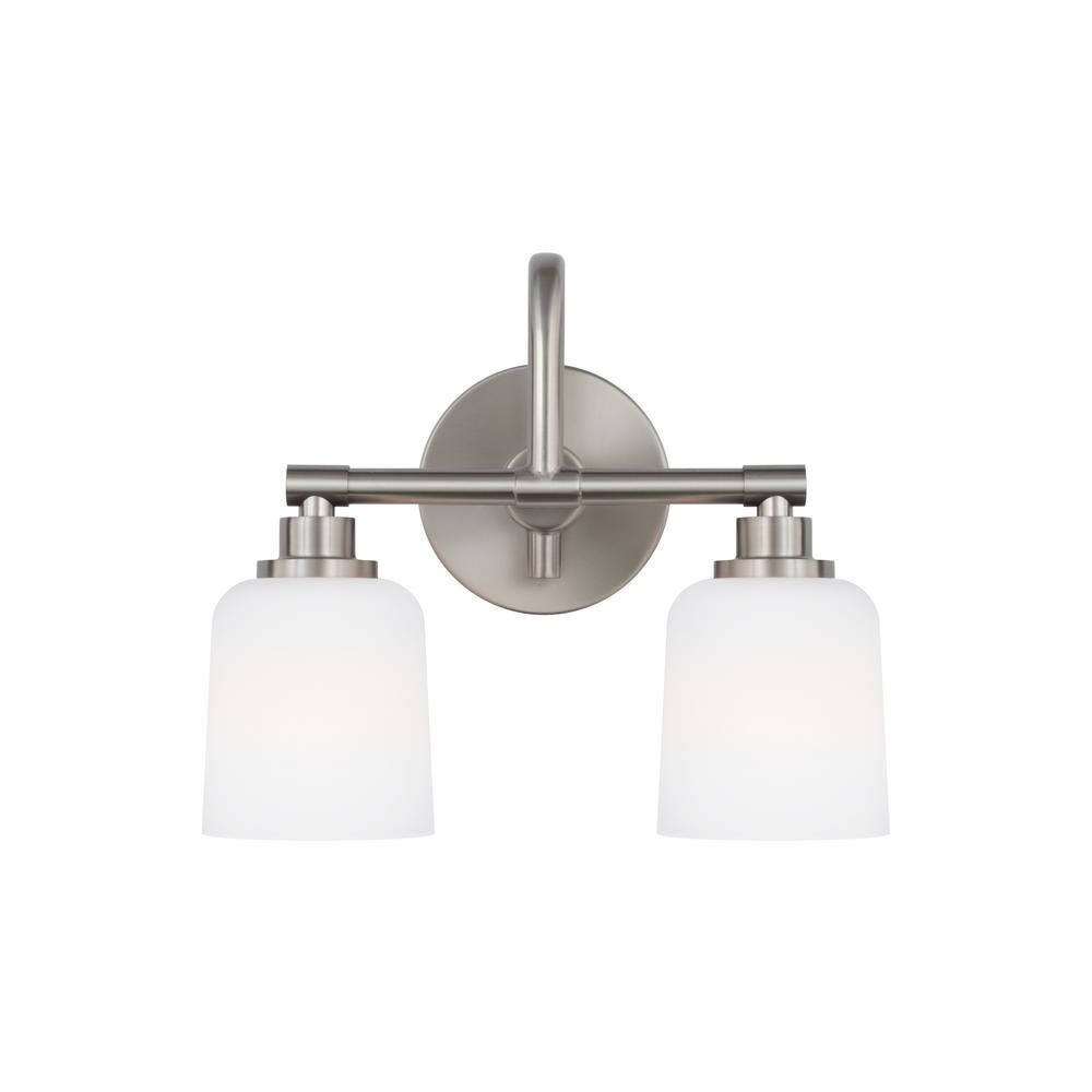 Reiser 2-Light Satin Nickel Bath Light