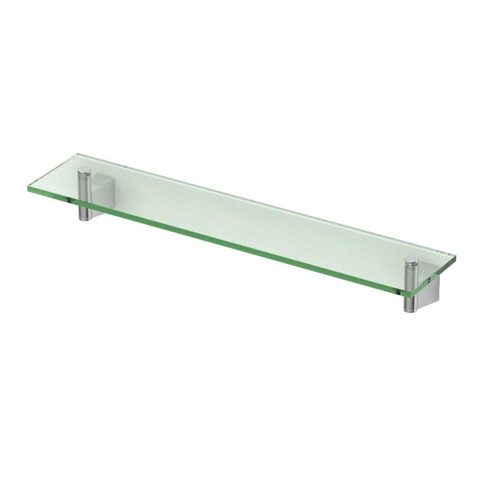 shelf polished bathroom shelves pin chrome collection three outline